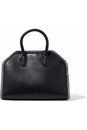 falabella-chain-trimmed-faux-leather-tote by stella-mccartney