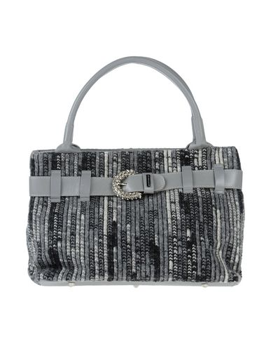 DIBRERA BY PAOLO ZANOLI レディース ハンドバッグ グレー 革 100% / 紡績繊維