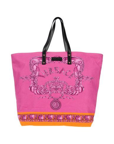 VERSACE レディース ハンドバッグ フューシャ 紡績繊維 / 革