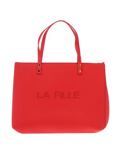 LA FILLE des FLEURS レディース ハンドバッグ レッド ポリエーテル 53% / ナイロン 25% / ポリエステル 16% / ポリウレタン 6%