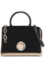 ALEXANDER WANG Snake effect-trimmed two-tone leather and suede shoulder bag