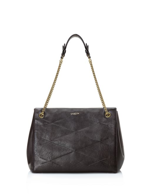 lanvin medium sugar zipped bag women