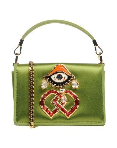 DSQUARED2 レディース ハンドバッグ グリーン 紡績繊維 / 革