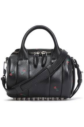 ALEXANDER WANG Floral-print textured-leather shoulder bag