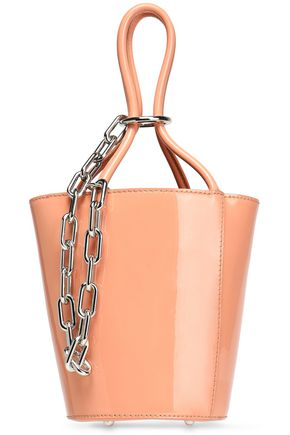 ALEXANDER WANG Chain-embellished patent-leather bucket bag
