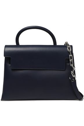 ALEXANDER WANG Chain-embellished leather shoulder bag