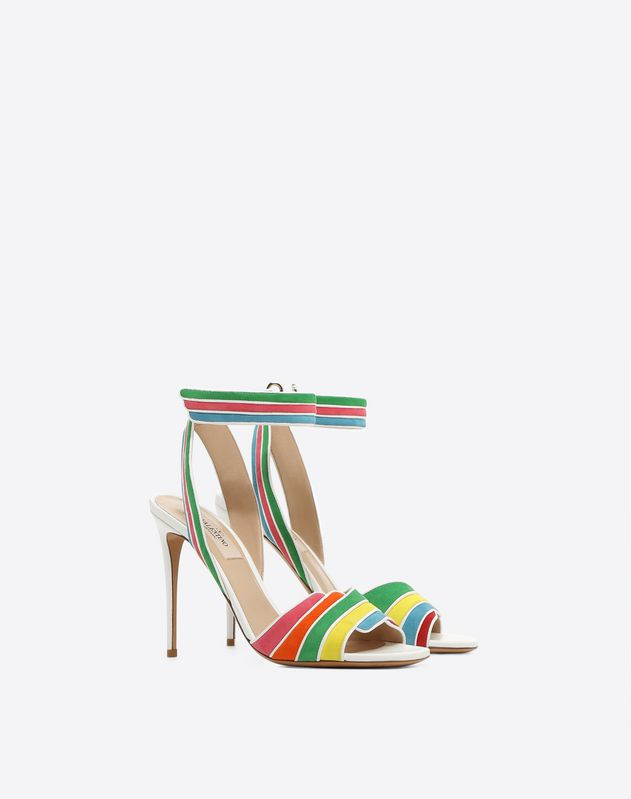 Suede Multi-color Sandal 105mm