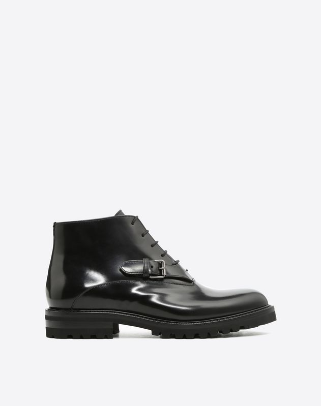 Laced Monk Strap Boot