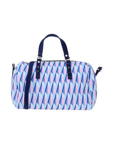 LA FILLE des FLEURS レディース ハンドバッグ ブルー ポリエーテル 53% / ナイロン 25% / ポリエステル 16% / ポリウレタン 6%