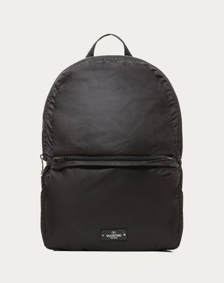 VALENTINO UOMO VLTN backpack  Black Cotton 45392679IX