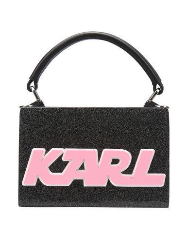 KARL LAGERFELD レディース ハンドバッグ ブラック アクリル 80% / 牛革 20%