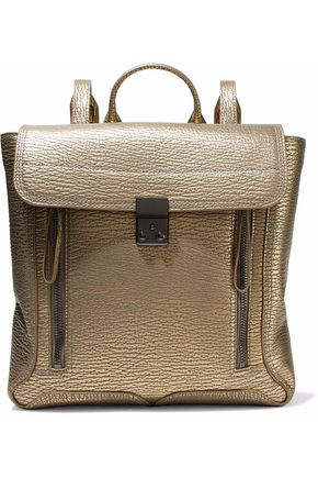 3.1 PHILLIP LIM Pashli metallic textured-leather backpack