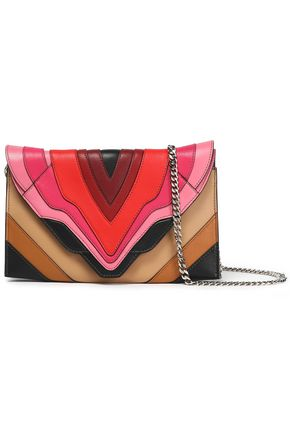 ELENA GHISELLINI Embroidered leather shoulder bag