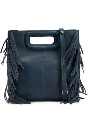 MAJE Fringe-trimmed leather shoulder bag