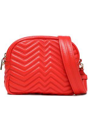 MAJE Quilted leather shoulder bag