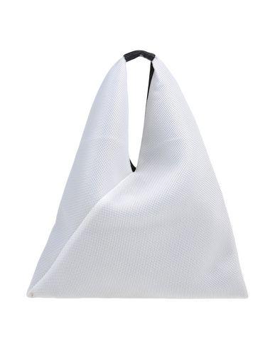 MM6 MAISON MARGIELA レディース ハンドバッグ ホワイト ポリエステル 100% / 革