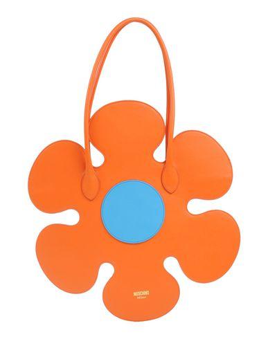 MOSCHINO COUTURE レディース ハンドバッグ オレンジ 革