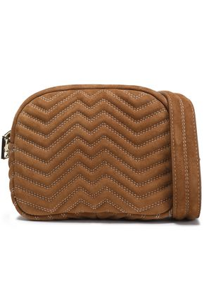 MAJE Quilted suede shoulder bag