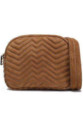 MAJE Quilted suede shoulder bag