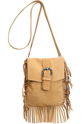 MAJE Fringed suede shoulder bag