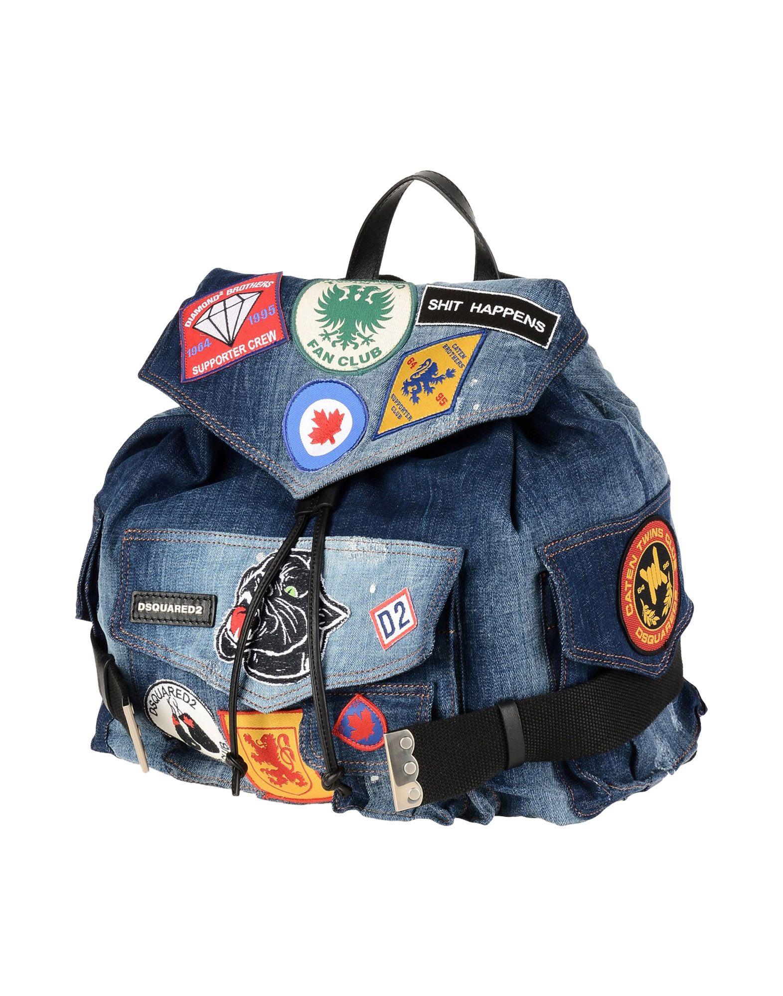 《送料無料》DSQUARED2 レディース バックパック&ヒップバッグ ブルー 紡績繊維 / 革