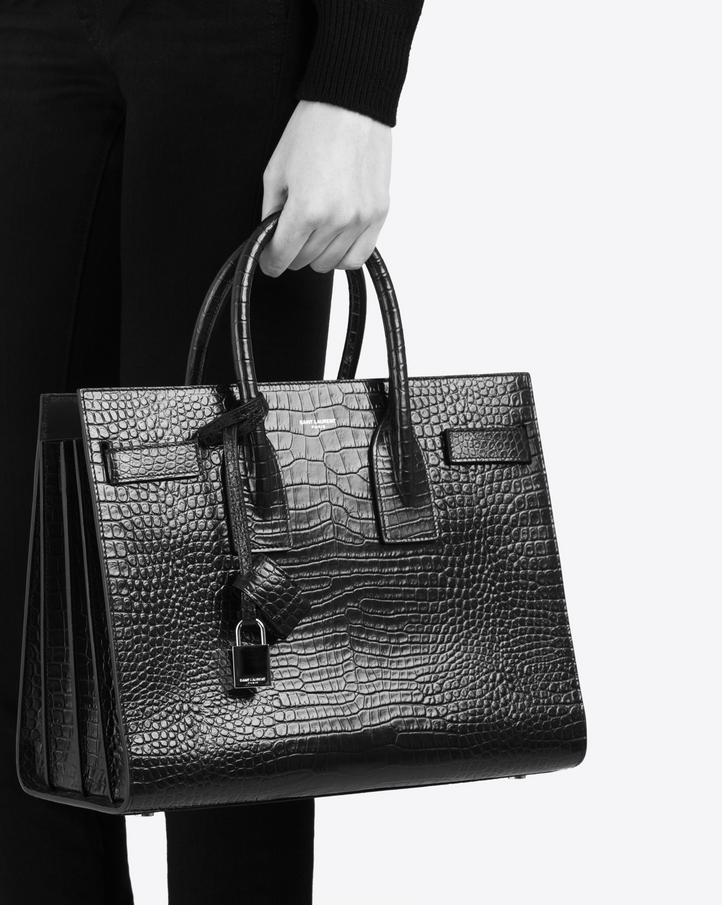 687f63e79e4a Zoom  classic sac de jour small in embossed crocodile shiny leather