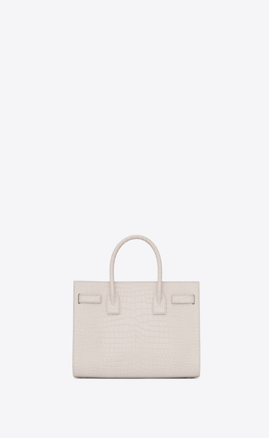 SAINT LAURENT Baby Sac de Jour Woman baby sac de jour bag in cream crocodile embossed shiny leather b_V4