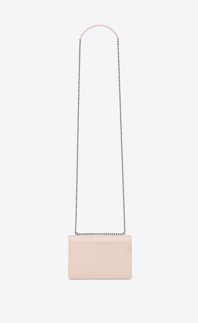 SAINT LAURENT Mini bags sunset Donna Portafogli SUNSET con catena rosa délavé in pelle b_V4