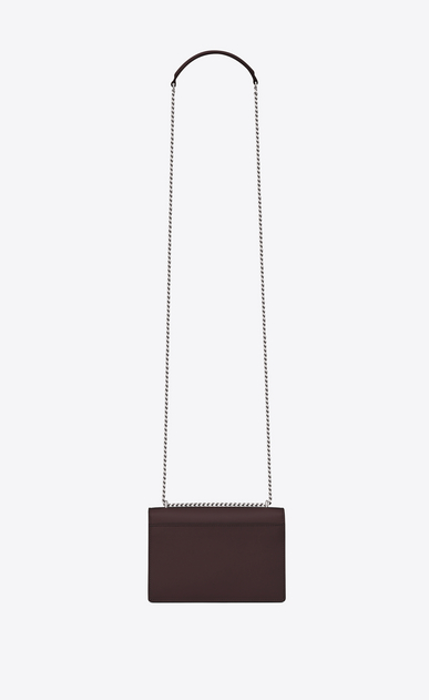 SAINT LAURENT Mini sacs Sunset Femme Portefeuille à chaîne SUNSET en cuir black tulip b_V4