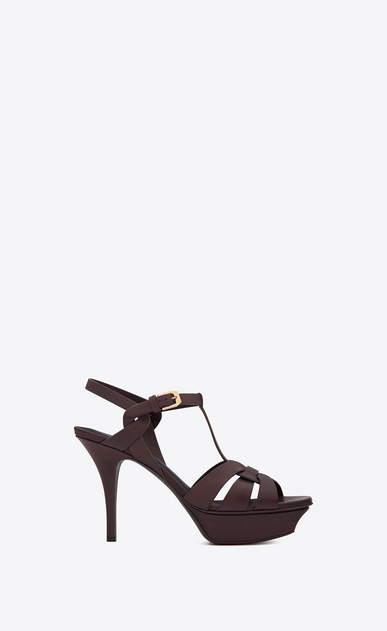 SAINT LAURENT Tribute Woman tribute sandal in smooth leather a_V4