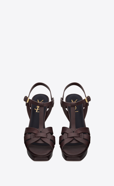 SAINT LAURENT Tribute Woman tribute sandal in smooth leather b_V4