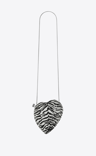 SAINT LAURENT YSL boxes Woman LOVE bag in calfskin with black and white tiger print a_V4