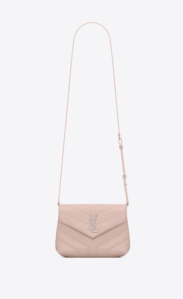 d6ac78be44f9 Saint Laurent Toy Loulou Strap Bag In Washed Pink
