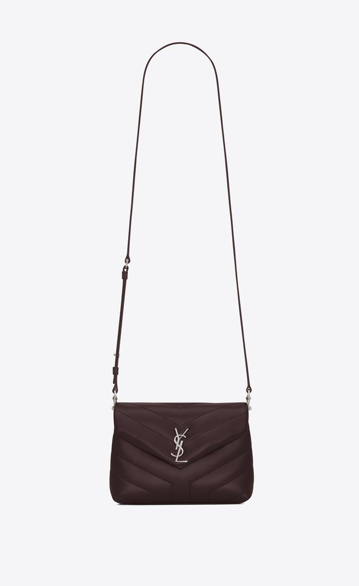 1c81b308743 Saint Laurent Toy Loulou Strap Bag In Black Tulip