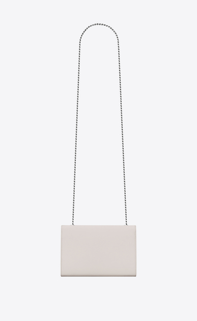 SAINT LAURENT MONOGRAM KATE Donna bag classic small kate con catena in pelle a texture color crema b_V4