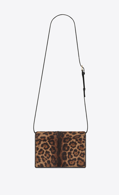SAINT LAURENT Bellechasse Woman medium bellechasse saint laurent satchel in calfskin with brown and black leopard print b_V4