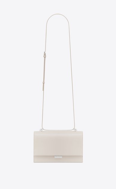 SAINT LAURENT Babylone Small Woman Small BABYLONE satchel in cream leather a_V4