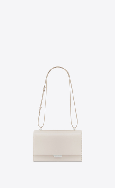 SAINT LAURENT Babylone Small Woman Small BABYLONE satchel in cream leather b_V4