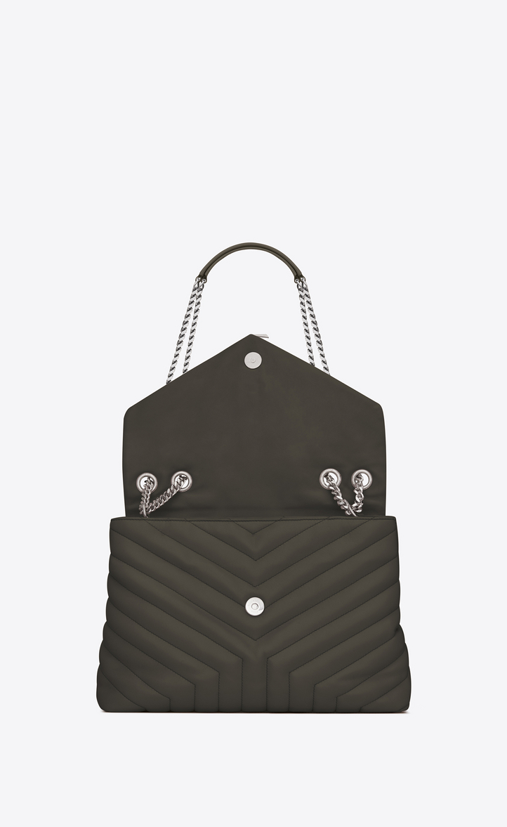 4e8fcfc832 Saint Laurent Medium Loulou Chain Bag In Dark Khaki