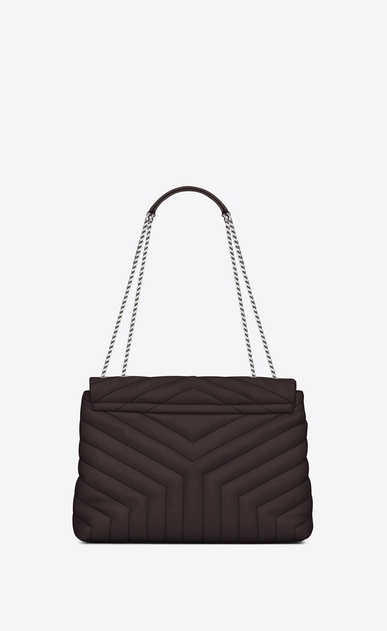 "SAINT LAURENT Monogramme Loulou Woman medium loulou bag in black tulip ""y"" matelassé leather b_V4"