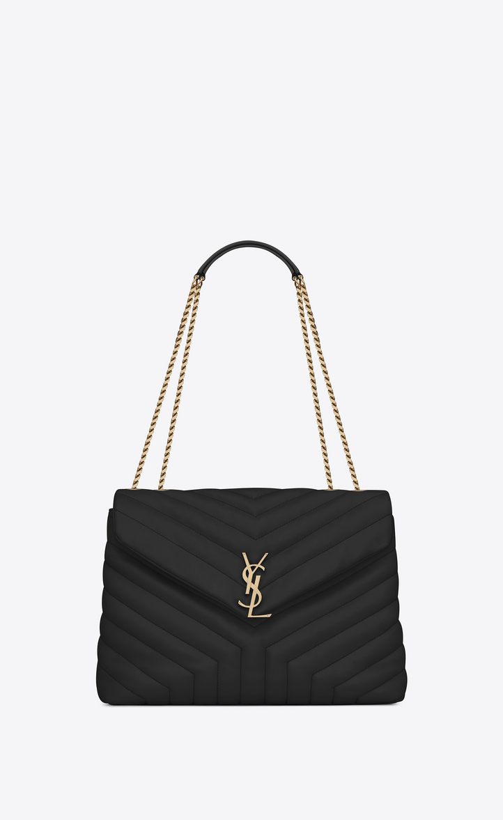 saint laurent large loulou chain bag in black y matelass leather modesens. Black Bedroom Furniture Sets. Home Design Ideas