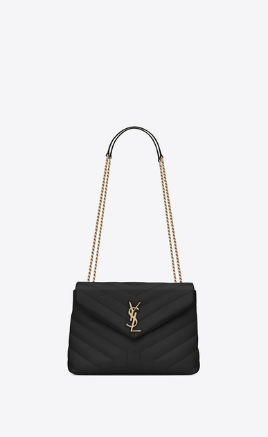 "SAINT LAURENT Monogramme Loulou Woman Small LOULOU chain bag in black ""Y""-quilted leather a_V4"