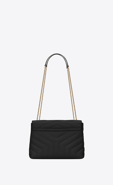 "SAINT LAURENT Monogramme Loulou Woman Small LOULOU chain bag in black ""Y""-quilted leather b_V4"