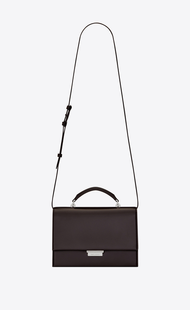 SAINT LAURENT Babylone Woman Medium BABYLONE bag in black tulip leather a_V4
