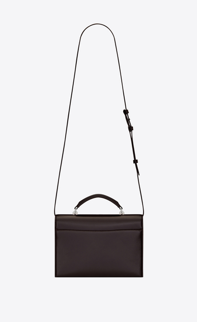 SAINT LAURENT Babylone Woman Medium BABYLONE bag in black tulip leather b_V4