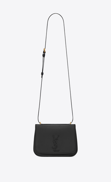 SAINT LAURENT Spontini Woman Small SPONTINI satchel in black leather a_V4