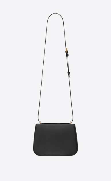 SAINT LAURENT Spontini Woman Small SPONTINI satchel in black leather b_V4