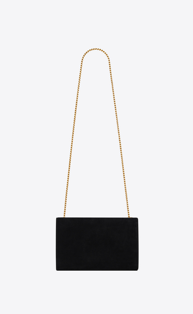 SAINT LAURENT MONOGRAM KATE Woman Medium KATE chain bag in black suede and multicolored crystals b_V4