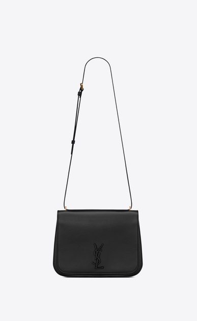 SAINT LAURENT Spontini Woman medium spontini bag in black leather a_V4