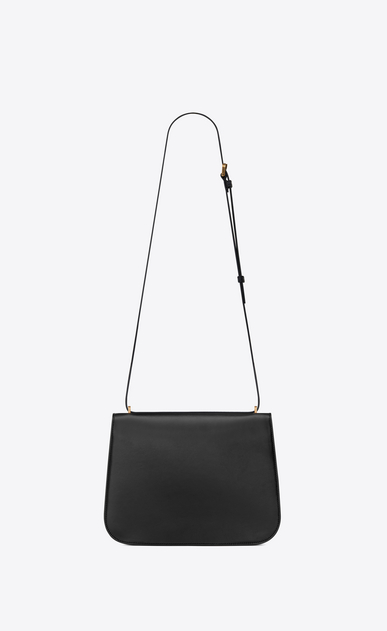 SAINT LAURENT Spontini Woman medium spontini bag in black leather b_V4